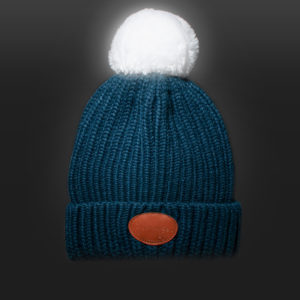 New Glowbee leuchtende Mütze - Leuchtbommel blau