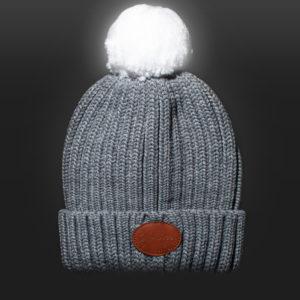New Glowbee leuchtende Mütze - Leuchtbommel grau