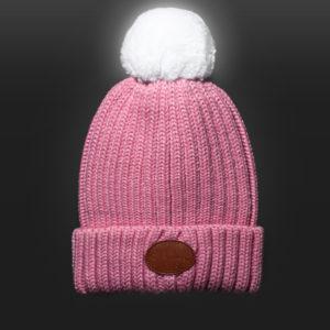 New Glowbee leuchtende Mütze - Leuchtbommel rosa