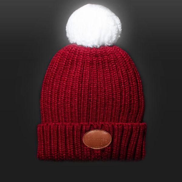 New Glowbee leuchtende Mütze - Leuchtbommel rot
